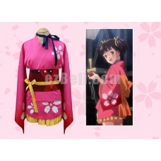 New! Kabaneri of the Iron Fortress Mumei Kimono set Yukata Costume cosplay