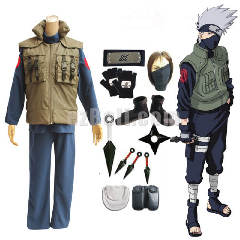 Naruto Kakashi Cosplay Costume Full Set