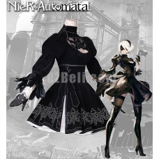 New! Nier: Automata Game 2B Black Dress Cosplay Costumes