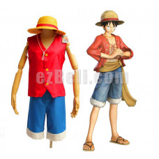 New! One Piece Monkey D. Luffy Cosplay Costume