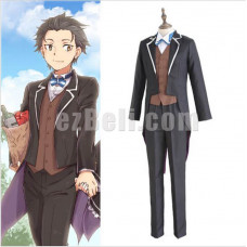 New! Re: Life in a Different World from Zero kara Hajimeru Isekai Seikatsu Subaru Natsuki Butler Suit Cosplay Costume
