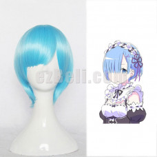 New! Re:Zero Life In A Different World From Zero Rem Blue Cosplay Wig Type A