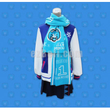 New! Hatsune Miku Snow Miku 2016 Vocaloid Cosplay Scarf