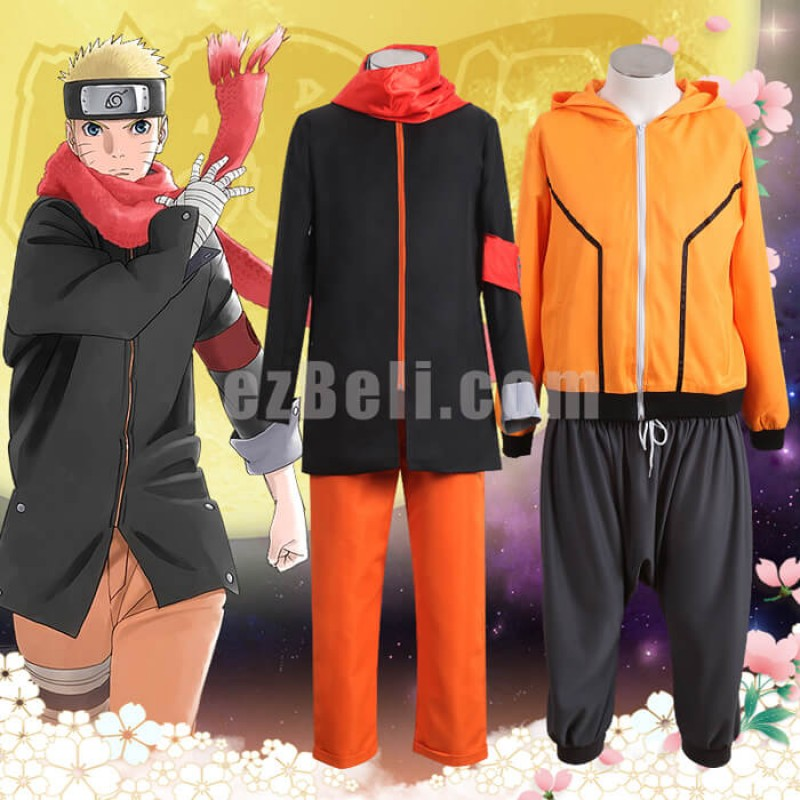 New! The Last: Naruto the Movie Uzumaki Naruto Eighth and Ninth Cosplay Costume