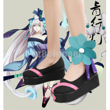 New! Onmyoji Yin Yang Master Pink Black Cosplay Shoes