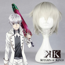 New! Anime K Project K Return of Kings Yashiro Isana Silver White Short Layered Cosplay Wig