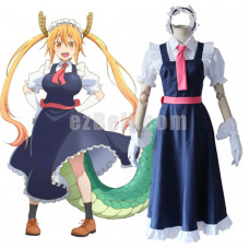 New! Anime Miss Kobayashi's Dragon Maid Tohru Long Dress Cosplay Costumes Uniform