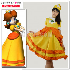 New! Super Mario Bros Princess Daisy Cosplay Costume