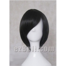 Himuro Tatsuya / lzaya Orihara /  Lelouch / Hibari Kyoya Long Fringe Black Cosplay Wig