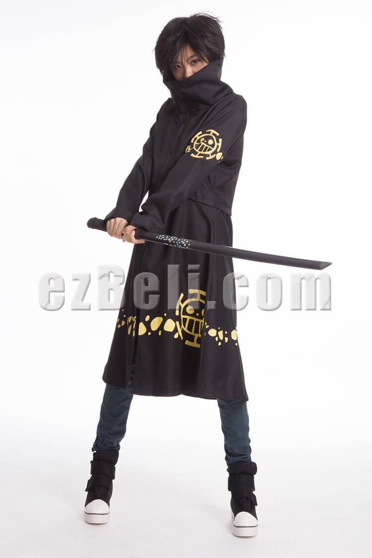 NEW! One Piece Trafalgar Law New World Cosplay Cloak & Hat
