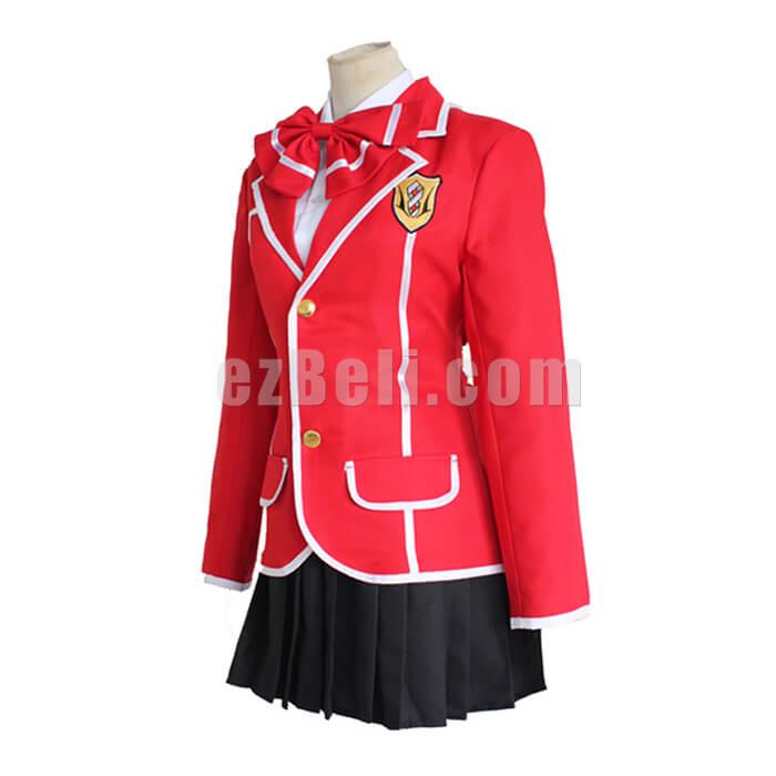 Guilty Crown Yuzuriha Inori Red School Uniform Cosplay