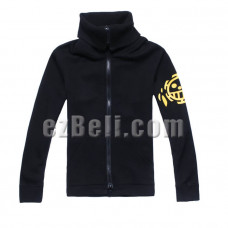 One Piece Trafalgar Law New World Black High Neck Jacket