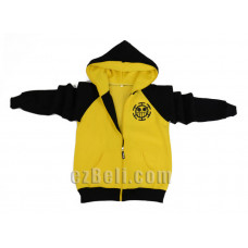 One Piece Trafalgar Law Vice Fairy Yellow Black Hoodie Jacket