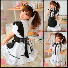 Lolita cute maid black & white dress