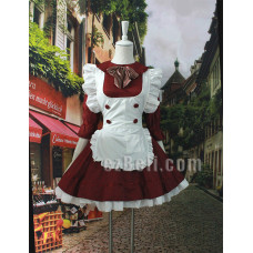 Lolita Cute Maid Red & White Dress