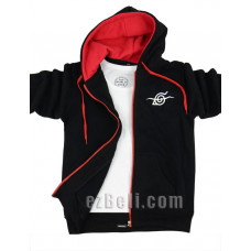 Naruto Akatsuki 晓 Black Hoodie Jacket