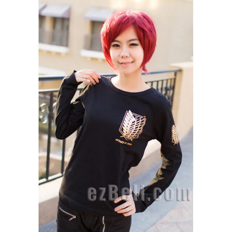 Attack on Titan 進撃の巨人 Shingeki no Kyojin - Black Gold Survey Legion Long Sleeve T-Shirt