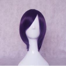 Gintama Takasugi Shinsuke / Brave 10 Rokuro Unno Purple Black Cosplay Wig
