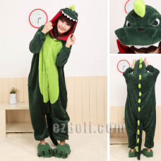 Coral Fleece Cartoon Dinasour Animal Kigurumi Pajamas Pyjamas Costume Cosplay