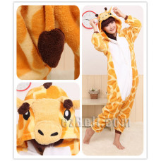 Coral Fleece Cartoon Giraffe Animal Kigurumi Pajamas Pyjamas Costume Cosplay
