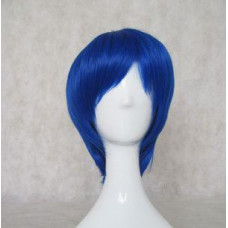 Cosplay Wig - Long Fringe Short Wig - Blue