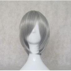 Katekyō Hitman Reborn Gokudera Hayato Dark Silver Cosplay Wig