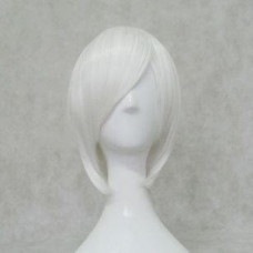 Cosplay Wig - Long Fringe Short  Wig - White
