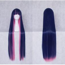 Panty & Stocking with Garterbelt Stocking Blue pink Cosplay Wig