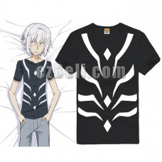 New! To Aru Majutsu no Index Scientific Railgun Accelerator T-shirt Black Tee Cosplay Costume