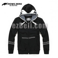 New! Official Original Crows Zero Mesh Eye Casual Sportwear Hoodie Jacket