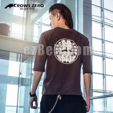 New! Official Original Crows Zero Genji Stylish Casual Elbow Length Shirt Type B