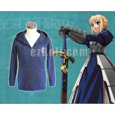 New! Fate/Stay Night Saber Hoodie Jacket