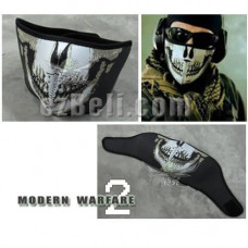 Call Of Duty: Modern Warfare 2 Ghost Skull Half Face Mask