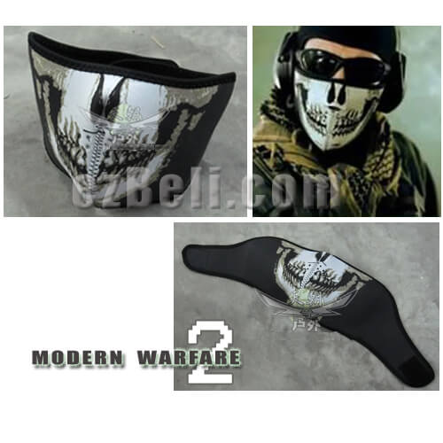 Call Of Duty Modern Warfare 2 Ghost Skull Half Face Mask