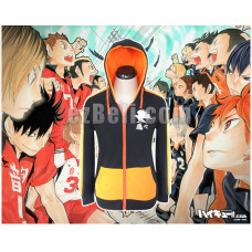 New! Haikyū!! Karasuno High School Stylish Hoodie Jacket