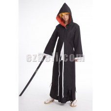 New! Bleach Kurosaki Ichigo Black Long Cloak With Hood Cosplay Costume