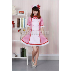New! Vocaloid Hatsune Miku Nurse Cosplay Costume Pink