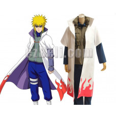 New! Naruto Shippuuden Uzumaki Naruto Sage 4th Hokage Cloak Cosplay Costume