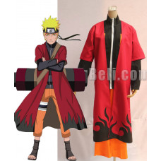 New! Naruto Shippuden Uzumaki Naruto Sage 6th Hokage Cloak Cosplay Costume