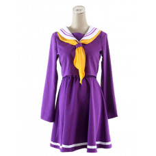 New! No Game No Life Shiro Cosplay Costume Type A