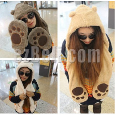 Cute Bear Hat With Paws