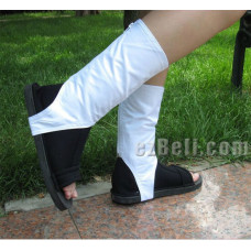 Naruto Cosplay black shoes with white socks