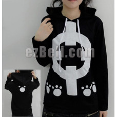 New! One Piece Bartholemew Kuma Black Hoodie Jacket
