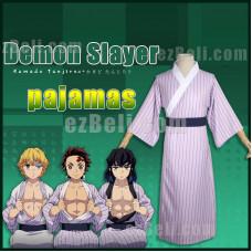 New! Anime Demon Slayer Kimetsu no Yaiba Tanjirou Kamado Japanese Tsumugi Pajamas Cosplay Costume