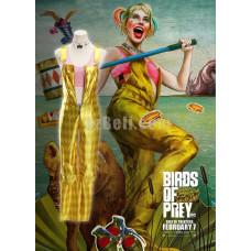 New! Movie Birds of Prey (2020 film) Harley Quinn Superhero Woman Pants Jumpsuit Cosplay Costume