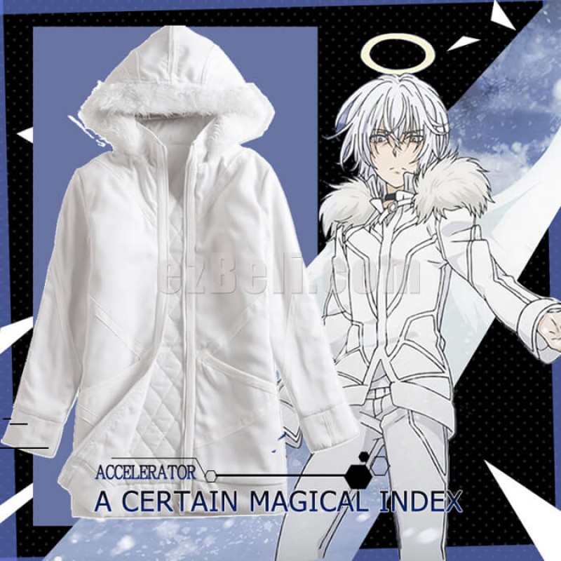 New! Toaru Majutsu no Index Accelerator A Certain Magical Index White Jacket Casual Cosplay Jacket