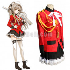 New! Anime Amagi Brilliant Park Sento Isuzu Red Uniform Cosplay Costume
