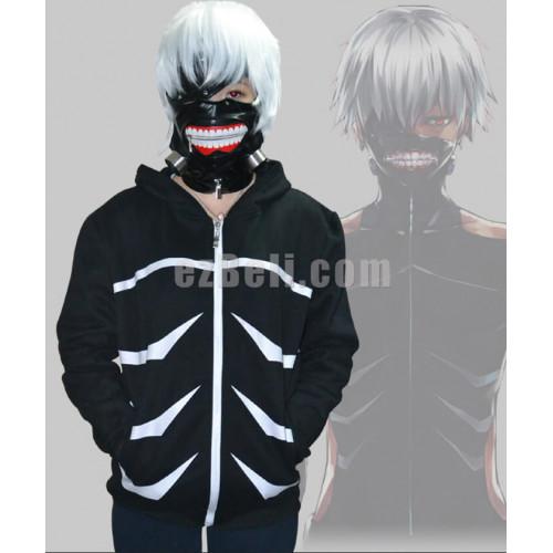 New Anime Tokyo Ghoul Kaneki Ken Black Long Sleeves Hoodie Jacket