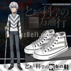 New! To Aru Majutsu no Index Accelerator Theme High Top Sneakers Unisex Casual Cosplay Shoes