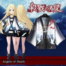 New! Angels Of Death Satsuriku No Tenshi Ray Rachel Gardner Chiffon Pajamas Cloaks Casual Cosplay Yukata Kimono Coat Bathrobes